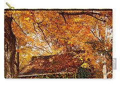 Carry-all Pouch featuring the photograph Rock Of Ages Surrouded By Color by Jeff Folger