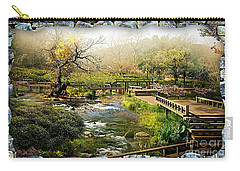 Rock Window River Garden Carry-all Pouch by Marvin Blaine
