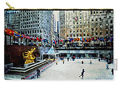 Rockefeller Center Ice Skaters Nyc Carry-all Pouch