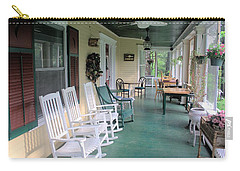Rockers On The Porch Carry-all Pouch by Gordon Elwell