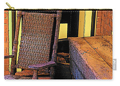 Rocking Chair And Woodbox Carry-all Pouch by Rodney Lee Williams