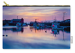 Carry-all Pouch featuring the photograph Rockport Harbor Sunrise Over Motif #1 by Jeff Folger