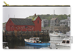 Rockport Inner Harbor With Lobster Fleet And Motif No.1 Carry-all Pouch by Christiane Schulze Art And Photography