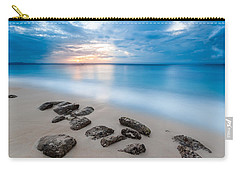 Carry-all Pouch featuring the photograph Rocks By The Sea by Mihai Andritoiu