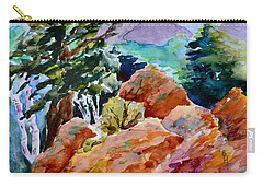 Rocks Near Red Feather Carry-all Pouch by Beverley Harper Tinsley