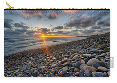 Rocky Coast Sunset Carry-all Pouch
