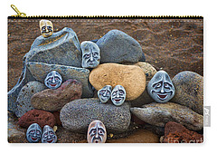 Rocky Faces In The Sand Carry-all Pouch by David Smith
