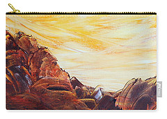Carry-all Pouch featuring the painting Rocky Landscape II by Teresa Wegrzyn