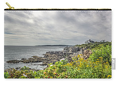 Carry-all Pouch featuring the photograph Rocky Maine Shoreline by Jane Luxton