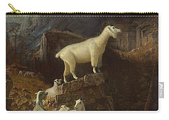 Rocky Mountain Goats Carry-all Pouch by Albert Bierstadt
