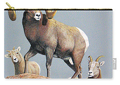Rocky Mountain Ram Ewe And Lamb Carry-all Pouch
