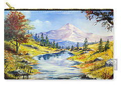Carry-all Pouch featuring the painting Rocky Mountain Stream by Lee Piper