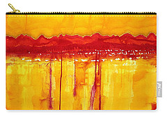 Rocky Mountains Original Painting Carry-all Pouch by Sol Luckman