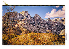 Carry-all Pouch featuring the photograph Rocky Peaks by Mark Myhaver