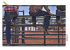 Rodeo Fence Sitters Carry-all Pouch by Priscilla Burgers