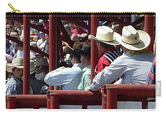Carry-all Pouch featuring the photograph Rodeo Time Cowboys by Susan Garren
