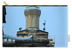 Carry-all Pouch featuring the photograph Roebling Bridge From Kentucky by Kathy Barney