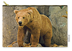Rolling Hills Wildlife Adventure 1 Carry-all Pouch by Walter Herrit