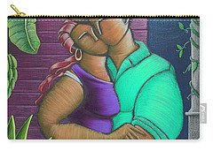 Carry-all Pouch featuring the painting Romance Jibaro by Oscar Ortiz