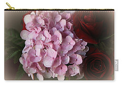 Carry-all Pouch featuring the photograph Romantic Floral Fantasy Bouquet by Kay Novy