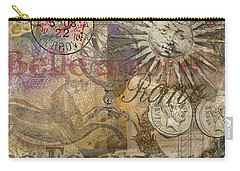 Rome Vintage Italy Travel Collage  Carry-all Pouch