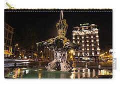 Rome's Fabulous Fountains - Bernini's Fontana Del Tritone Carry-all Pouch by Georgia Mizuleva