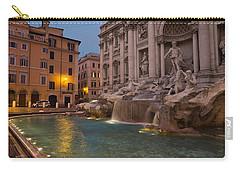 Rome's Fabulous Fountains - Trevi Fountain At Dawn Carry-all Pouch by Georgia Mizuleva