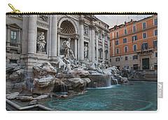 Rome's Fabulous Fountains - Trevi Fountain - No Tourists Carry-all Pouch by Georgia Mizuleva