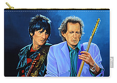 Ron Wood And Keith Richards Carry-all Pouch by Paul Meijering