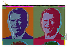 Ronald Reagan Carry-all Pouch by Jean luc Comperat