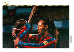 Ronaldinho And Eto'o Carry-all Pouch by Paul Meijering