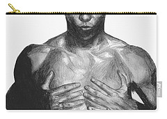 Carry-all Pouch featuring the drawing Ronaldo by Tamir Barkan