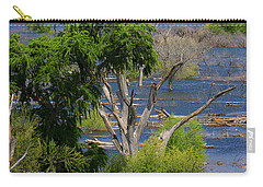 Carry-all Pouch featuring the photograph Roosevelt Lake Rising To New Height by Tom Janca