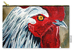 Carry-all Pouch featuring the painting Rooster Doodle by Julie Brugh Riffey