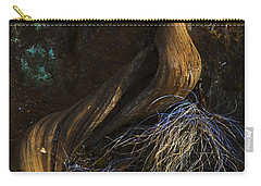 Carry-all Pouch featuring the photograph Tree Root by Yulia Kazansky