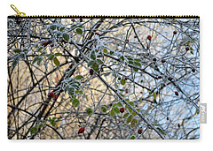 Carry-all Pouch featuring the painting Rosa Canina  by Felicia Tica