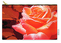 Carry-all Pouch featuring the photograph Rose 1 by Pamela Cooper
