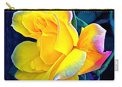 Carry-all Pouch featuring the photograph Rose 4 by Pamela Cooper