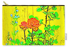 Carry-all Pouch featuring the photograph Rose 9 by Pamela Cooper