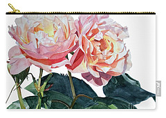 Pink And Yellow Rose Anne Carry-all Pouch