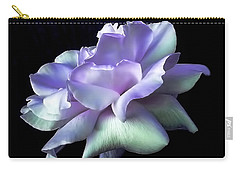 Carry-all Pouch featuring the photograph Rose Awakening Floral by Jennie Marie Schell
