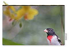 Rose Breasted Grosbeak Photo Carry-all Pouch by Luana K Perez