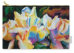 Rose Cluster Half Carry-all Pouch