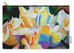 Carry-all Pouch featuring the painting Rose Cluster Half by Kathy Braud