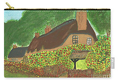 Carry-all Pouch featuring the painting Rose Cottage by Tracey Williams