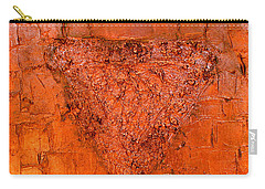Rose Gold Mixed Media Triptych Part 3 Carry-all Pouch