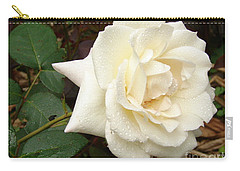 Rose In The Rain Carry-all Pouch