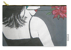 Carry-all Pouch featuring the painting Rose Lady by Nora Shepley