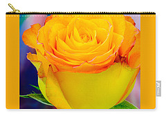Yellow Rose Macro Carry-all Pouch