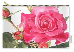 Watercolor Red Rose Margaret Carry-all Pouch